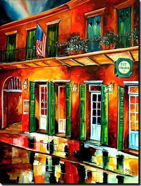 Art: Pat O'Brien's by Night - SOLD by Artist Diane Millsap