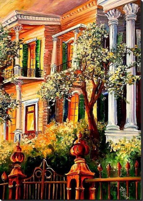 Art: Sunset in the Garden District - SOLD by Artist Diane Millsap