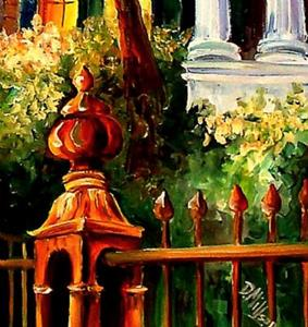 Detail Image for art Sunset in the Garden District - SOLD