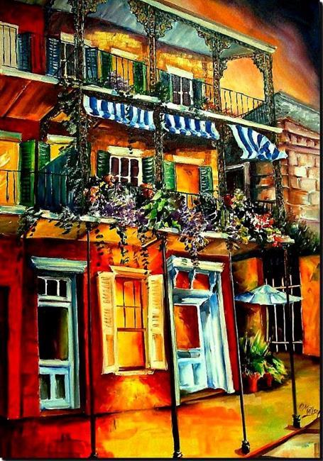 Art: An Evening on Royal Street - SOLD by Artist Diane Millsap