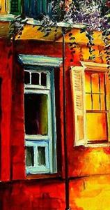 Detail Image for art An Evening on Royal Street - SOLD