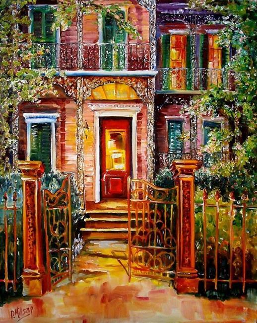 Art: Garden District Gate - SOLD by Artist Diane Millsap