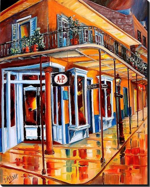 Art: The French Quarter A&P - SOLD by Artist Diane Millsap