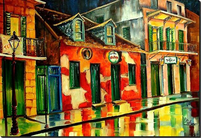 Art: St. Peter Street- New Orleans - SOLD by Artist Diane Millsap