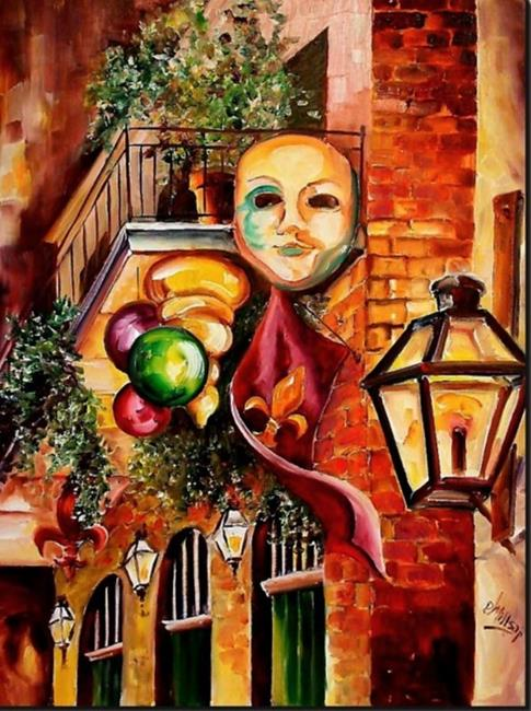 Art: Mardi Gras Night - SOLD by Artist Diane Millsap