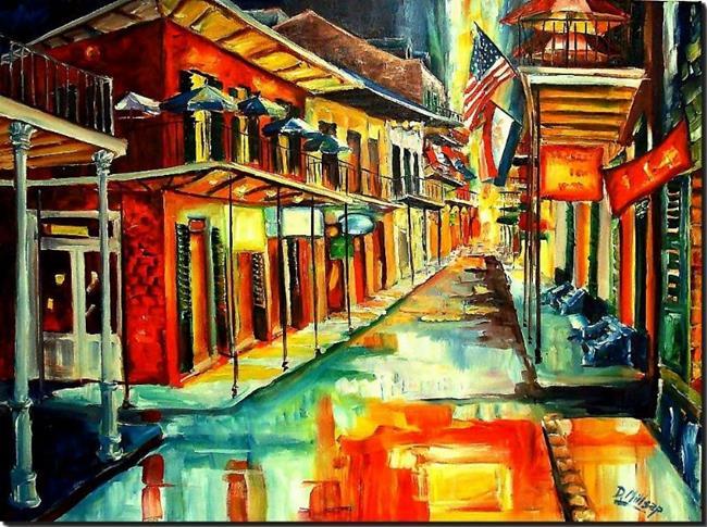Art: Bourbon Street Glitz SOLD by Artist Diane Millsap