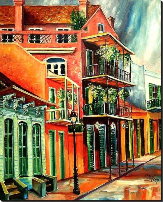 Art: Beautiful Vieux Carre' - SOLD by Artist Diane Millsap