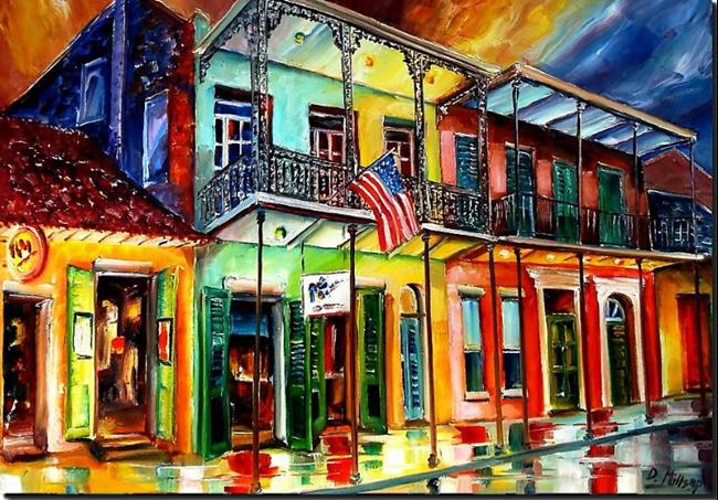 Art: Down on Bourbon Street - SOLD by Artist Diane Millsap