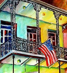 Detail Image for art Down on Bourbon Street - SOLD