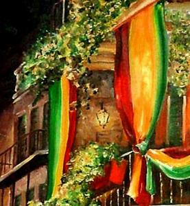 Detail Image for art A Balcony in the French Quarter - SOLD