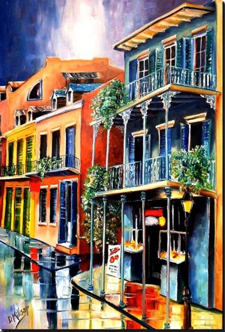 Art: Royal Street Rain - SOLD by Artist Diane Millsap
