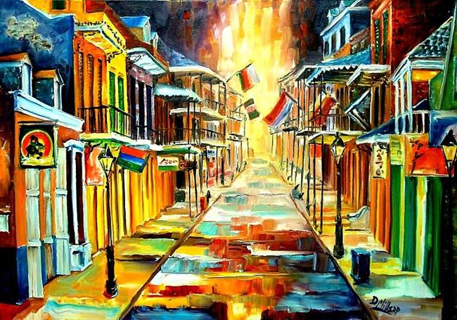 Art: The Lights on Bourbon Street - SOLD by Artist Diane Millsap