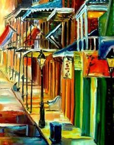 Detail Image for art The Lights on Bourbon Street - SOLD