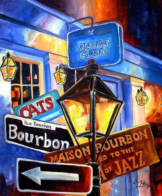 Art: Signs of Bourbon Street - SOLD by Artist Diane Millsap