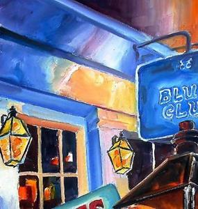Detail Image for art Signs of Bourbon Street - SOLD