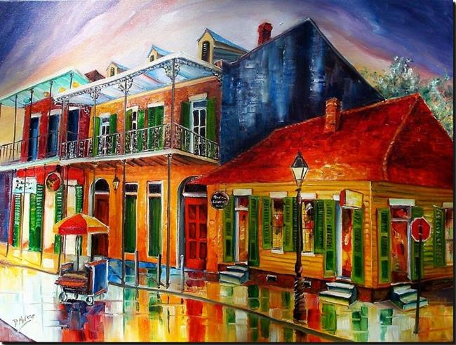 Art: Late on Bourbon Street - SOLD by Artist Diane Millsap