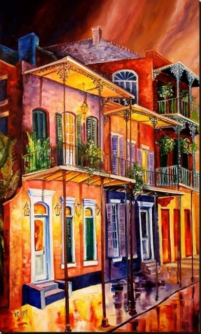 Art: Walk into the French Quarter - SOLD by Artist Diane Millsap
