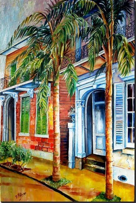 Art: Palms on Esplanade - SOLD by Artist Diane Millsap