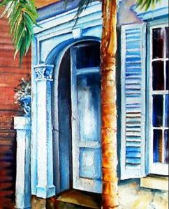 Detail Image for art Palms on Esplanade - SOLD