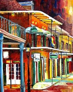 Detail Image for art Bourbon Street Lights - SOLD