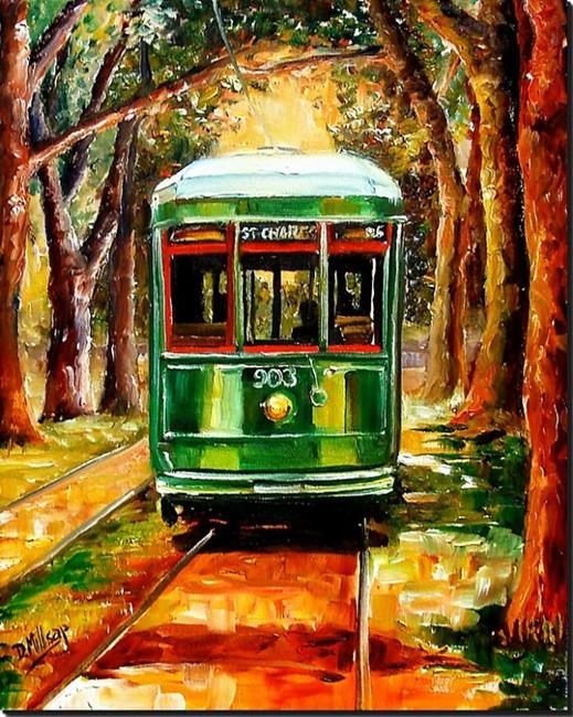 Art: The St. Charles Streetcar Line - SOLD by Artist Diane Millsap