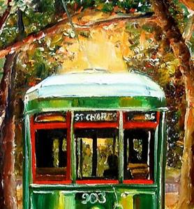 Detail Image for art The St. Charles Streetcar Line - SOLD