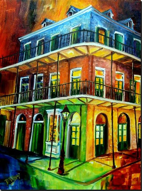 Art: Nawlins Rainbow - SOLD by Artist Diane Millsap