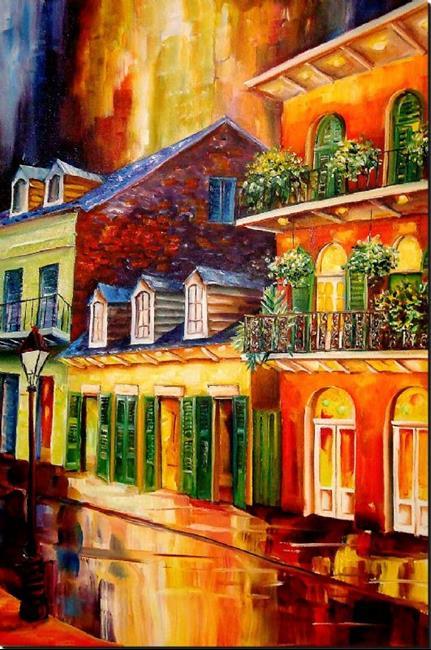 Art: Late Night-French Quarter - SOLD by Artist Diane Millsap