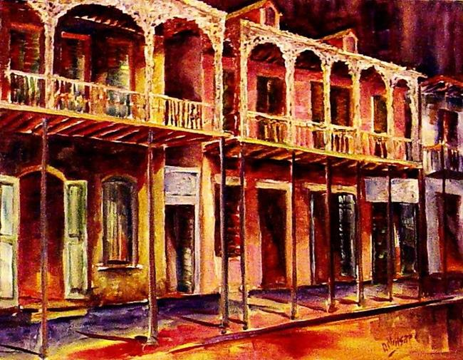 Art: French Quarter History - SOLD by Artist Diane Millsap