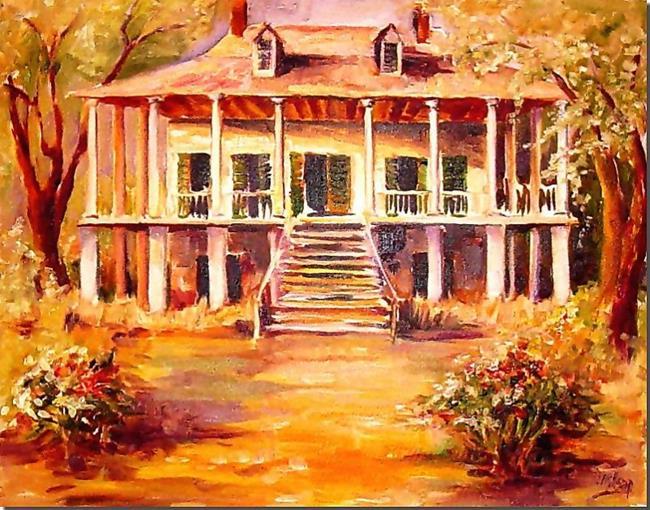 Art: Old Louisiana Plantation - SOLD by Artist Diane Millsap