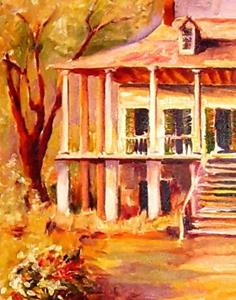 Detail Image for art Old Louisiana Plantation - SOLD