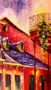 Detail Image for art Quiet Night in the French Quarter - SOLD