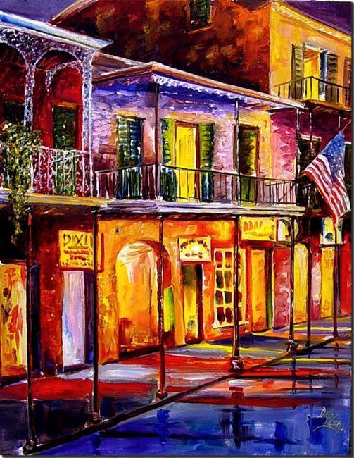 Art: Lights on Bourbon Street - SOLD by Artist Diane Millsap