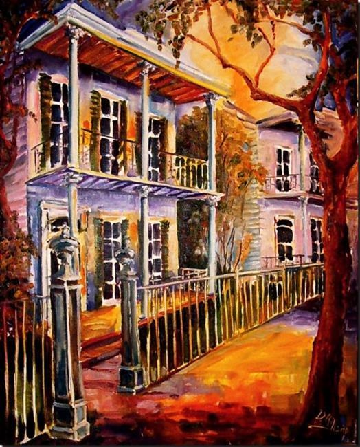 Art: Evening in Uptown - SOLD by Artist Diane Millsap