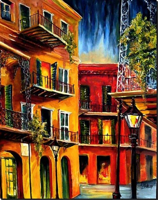Art: French Quarter Balconies - SOLD by Artist Diane Millsap