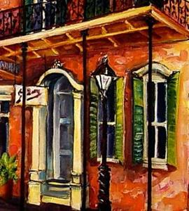 Detail Image for art A Walk in the French Quarter - SOLD