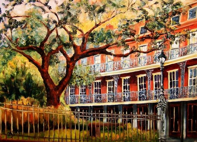 Art: Jackson Square - French Quarter - SOLD by Artist Diane Millsap