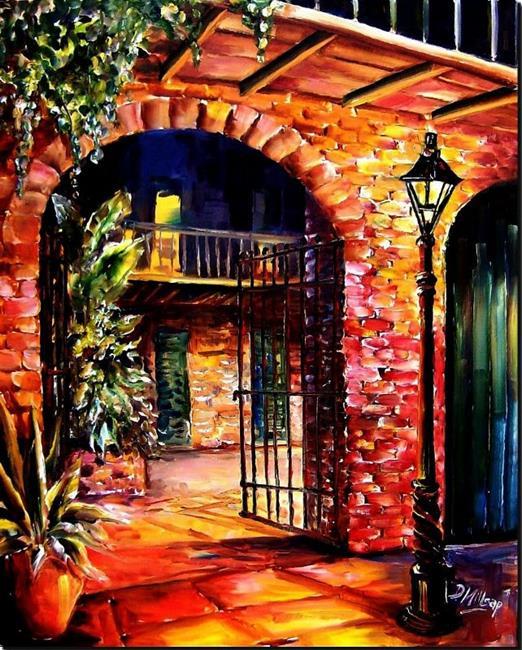 Art: Invitation to a Courtyard - SOLD by Artist Diane Millsap