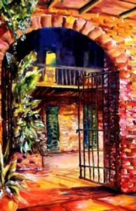 Detail Image for art Invitation to a Courtyard - SOLD
