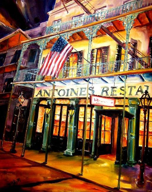 Art: Antoine's Restaurant - SOLD by Artist Diane Millsap