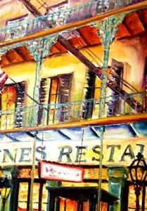 Detail Image for art Antoine's Restaurant - SOLD