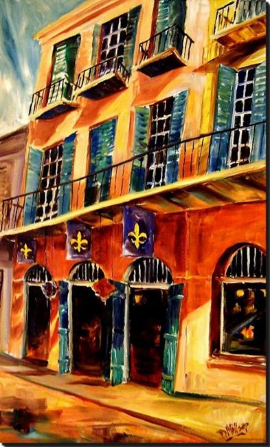 Art: Sunshine on Royal Street - SOLD by Artist Diane Millsap