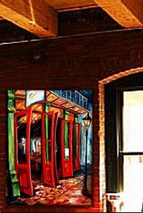 Detail Image for art Big Red Doors in the French Quarter II - SOLD
