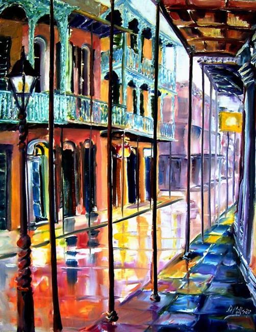 Art: Rainy Day on Royal Street - SOLD by Artist Diane Millsap
