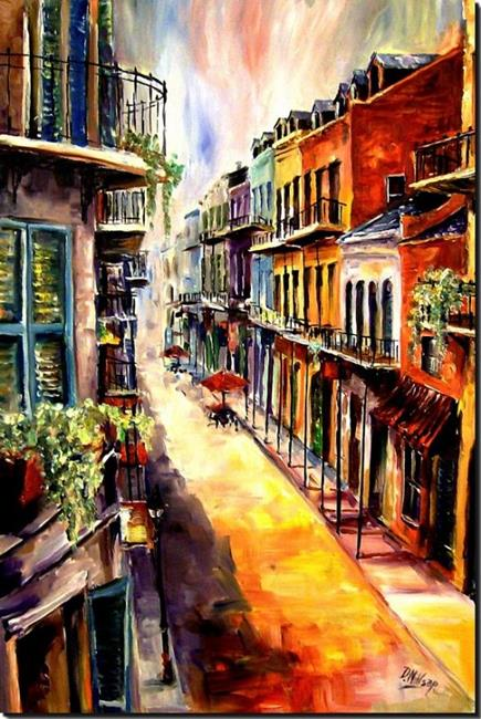 Art: View from a French Quarter Window - SOLD by Artist Diane Millsap