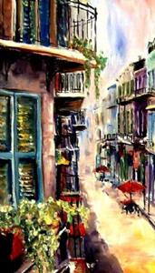 Detail Image for art View from a French Quarter Window - SOLD