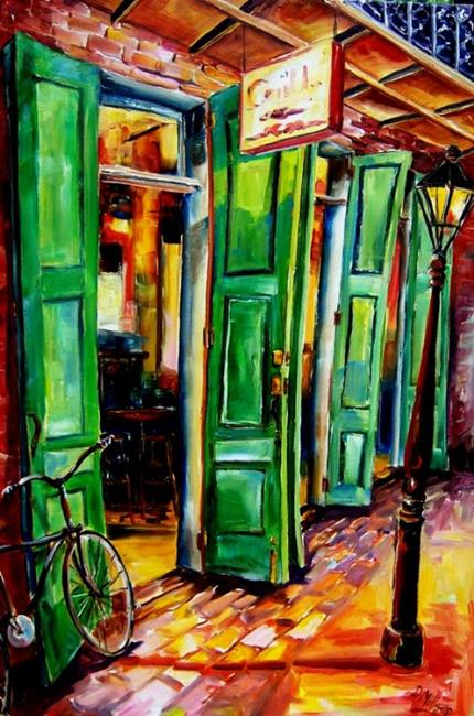 Art: Big Green Doors in the French Quarter- SOLD by Artist Diane Millsap