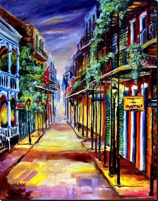 Art: French Quarter Twilight - SOLD by Artist Diane Millsap