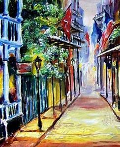 Detail Image for art French Quarter Twilight - SOLD