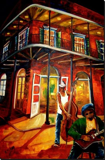 Art: Jazz in the Big Easy - SOLD by Artist Diane Millsap